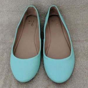Min No 6 Mint Blue Flats 8.5